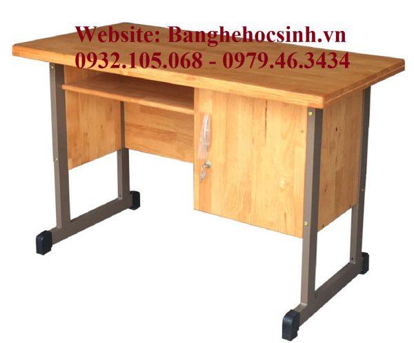 Bàn giáo viên gỗ ghép, bàn giáo viên khung sắt mặt gỗ, mẫu bàn giáo viên đẹp