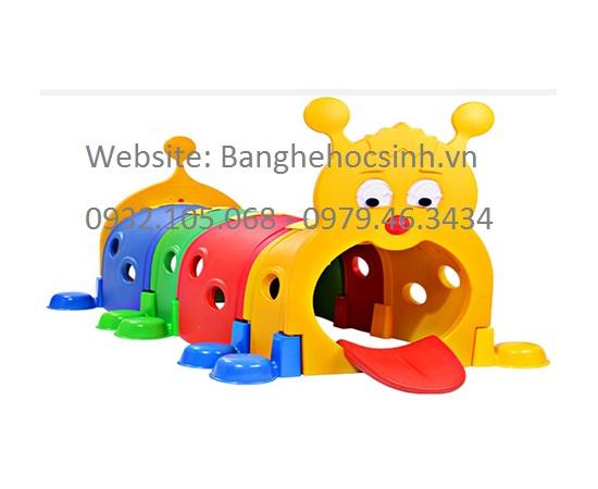 Hang chui con sâu, hầm chui con sâu, con sâu nhiều màu, con sâu nhựa, co sâu chui, đồ chơi trẻ em