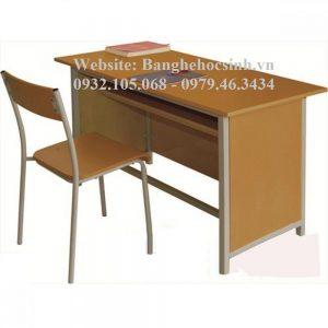 MÃ SỐ SẢN PHẨM: BGV-01THP Mô tả sản phẩm Kích Thước: – BGV101: W1200 x D600 x H750 mm Chất liệu: – Khung bàn ghế ống thép ovan sơn tĩnh điện – Mặt bàn và bửng bàn ván Melamine cao cấp