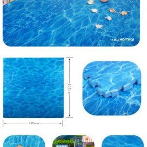 Thảm xốp hải dương, thảm xốp in hình nước biển, thảm xốp màu xanh biển, thảm xốp đẹp, thảm xốp in hình cỏ, thảm xốp màu xanh